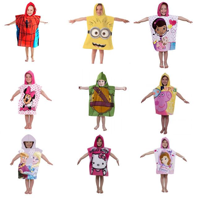 Disney & Kids Character Hooded Bath Beach Towel Poncho Brand New Gift