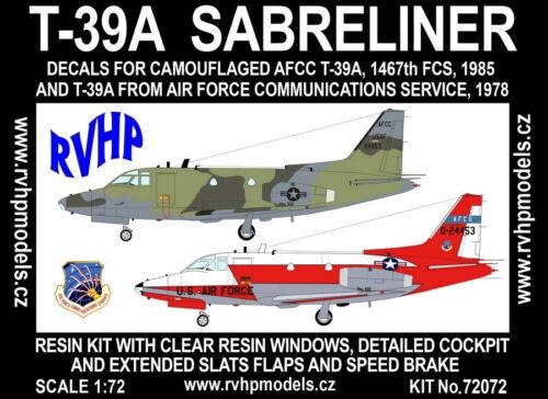 USAF RVHP Models 1//72 North American T-39A Sabreliner