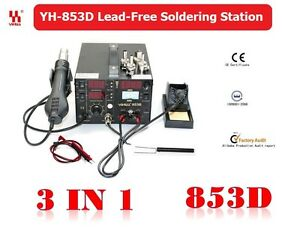 YIHUA-3in1-Soldering-Station-SMD-Rework-Iron-Hot-Air-Gun-DC-Power-853D-5A-2A-1A