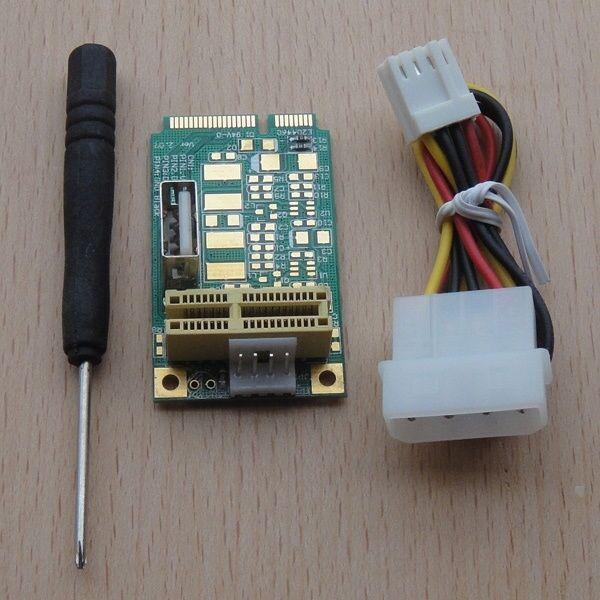 1PCS Mini PCI-E PCI express to PCI-E 1X 36Pin USB Card adapter Riser Extender