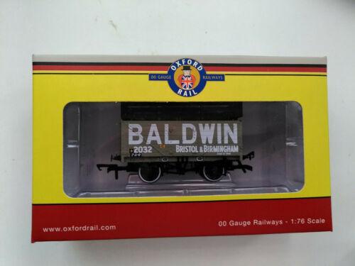ORc76ck7005 7 Plank Coke Wagon /'Baldwin/' Grey with Coke Rails Oxford Rail OO