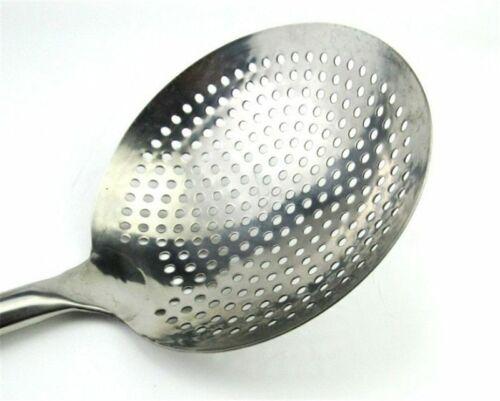 Long Handle Colander Spoon Cooker Fried Kitchen Large Big Mesh Strainer Cookware