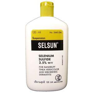 Shampoo que contiene sulfuro de selenio