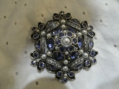 VINTAGE JOAN RIVERS EXQUISITE PURPLE CLEAR RHINEST