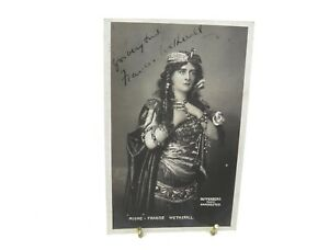 Antique-Mione-Francis-Wetherall-hand-signed-autograph-postcard-actress