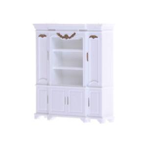Dollhouse-Miniature-Furniture-Decor-Cabinet-Shelves-Bookcase-Golden-Pattern-AU