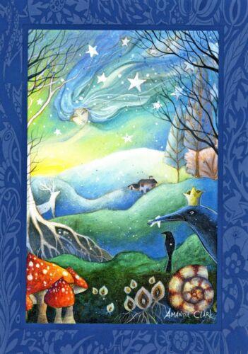 WINTER SOLSTICE YULE FESTIVAL GREETING CARD 21st Dec WICCAN PAGAN AMANDA CLARK
