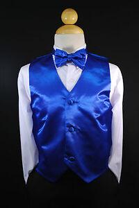 dc0bf5e6d Baby Boys Toddler   Big Kids ROYAL BLUE VEST + BOW TIE Suits ...