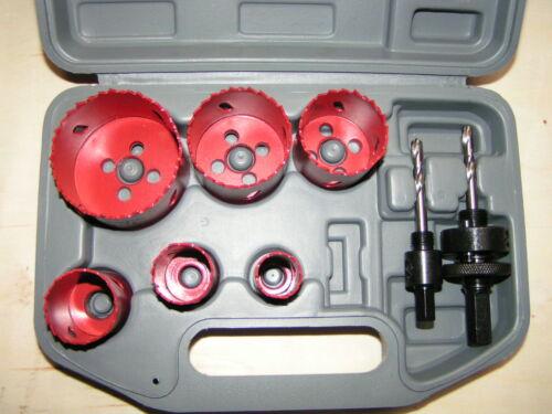 9 pcs Bi-metal Amadeal Hole Saw Set 22-64mm