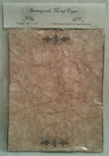 10 Sheets Antiqued Steampunk Paper