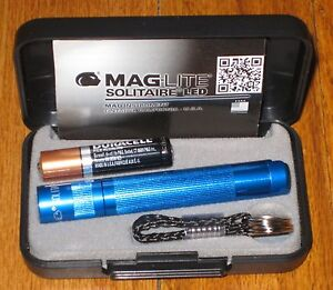 Maglite Solitaire LED Blue maglight LED mag-lite mag-light LED!! 387392016896 | eBay