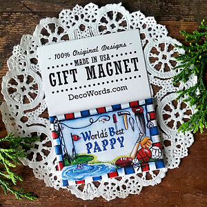 World-039-s-Best-PAPPY-Gift-Magnet-Decorative-Greetings-Made-in-USA-New-in-Package