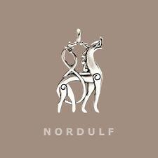 VIKINGS Silver Sleipnir Pendant in Urnes Style from Norway Viking Age