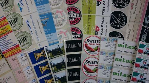 60 * 30 96 Full Color O Lisa Self adhesive//sticky Etiquetas De Papel Personalizadas Impresas