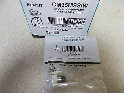 3.5mm NEW Panduit CM35MSSIW Stereo CONNECTOR Off White *FREE SHIPPING*