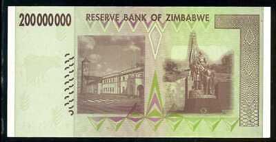 AA-Prefix 200 million P-81 Zimbabwe 200,000,000 XF 2008