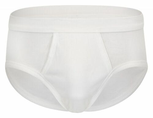 Herren Feinripp Slip Unterhose 4er Pack aus Baumwolle mit Eingriff und Weichbund