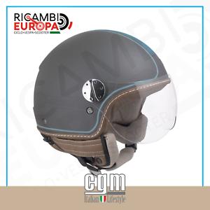 CASCO JET MOTO GRIGIO TITANIO SCOOTER VESPA RETRO/' CGM 109V SANTA MONICA