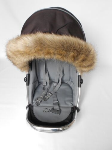 Icandy poussette Fur Hood Trim COMPATIBLE BABYSTYLE Stomp Voyage Oyster Poussette