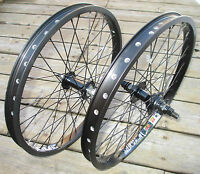 Wheel Set 20 Bmx Park 3/8 Front 14mm 9t Rear Double Walled Rims