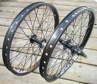 Wheel Set 20 Bmx Park 3/8 Front 14mm 9t Rear Double Walled Rims