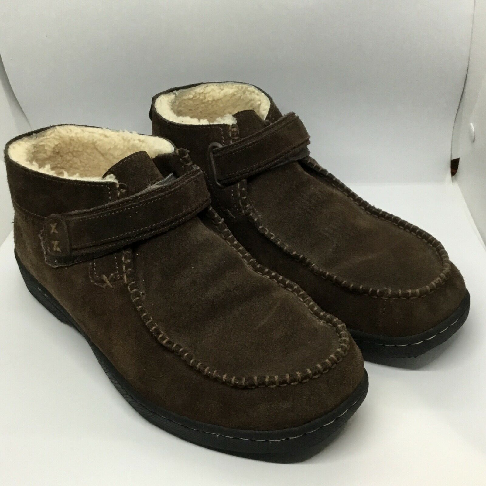 Jeffrey Fitzhugh Ankle Boots sz 11 Men Brown Hook Fastener Closer