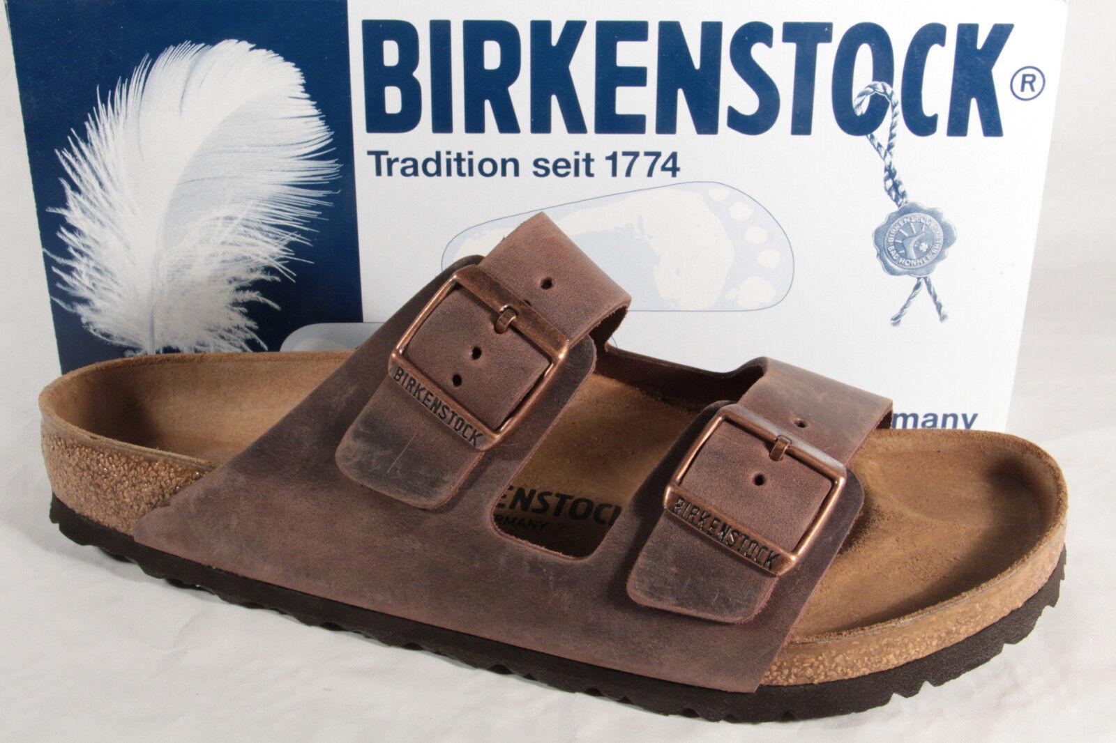 Birkenstock Hombre Zapato Abierto Zuecos Mulas Verdadero Cuero Verdadero Mulas Marrón 052531 4b6553