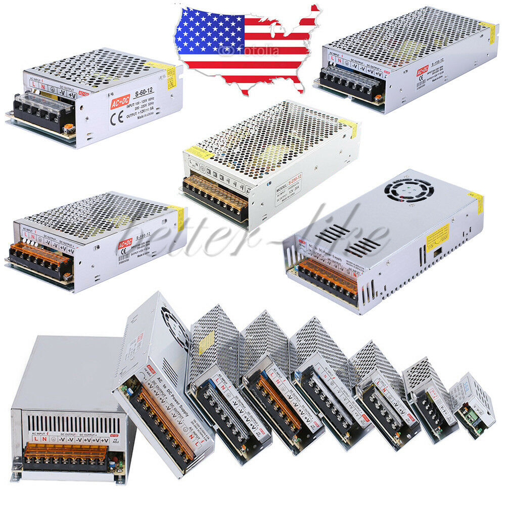Universal 12v 1 3 5 10 15 20 25 30a Switching Power Supply Driver Supplies For Led Strip Ebay
