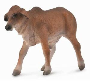 Brahman Calf Red 2 13/16in Farm Animal Collecta 88601