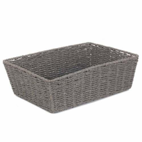 Grey Rope Paper Tray Hamper Basket Christmas Present Gift Box