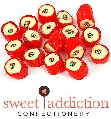 750g Cherry Rocks - Bulk Wedding Boiled Lollies Candy Buffet Sweet Addiction