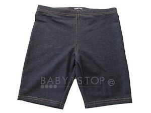 Girls-Cycle-Shorts-Denim-Effect-Age-5-6-6-7-7-8-8-9-9-10-10-11-11-12-12-13-13-14