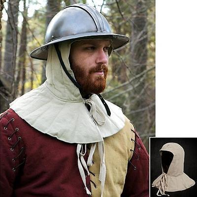 Full Padded Arming Cap For Helmet. Head & Neck Protection - Re-enactment or LARP
