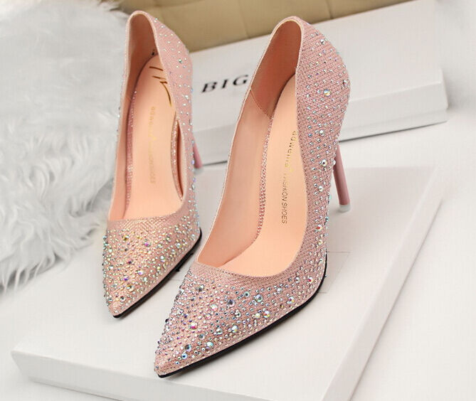 Décollte Zapatos de salón mujer mujer mujer talón perno 10,5 cm tacón aguja mode rosadodo 8614  bajo precio del 40%