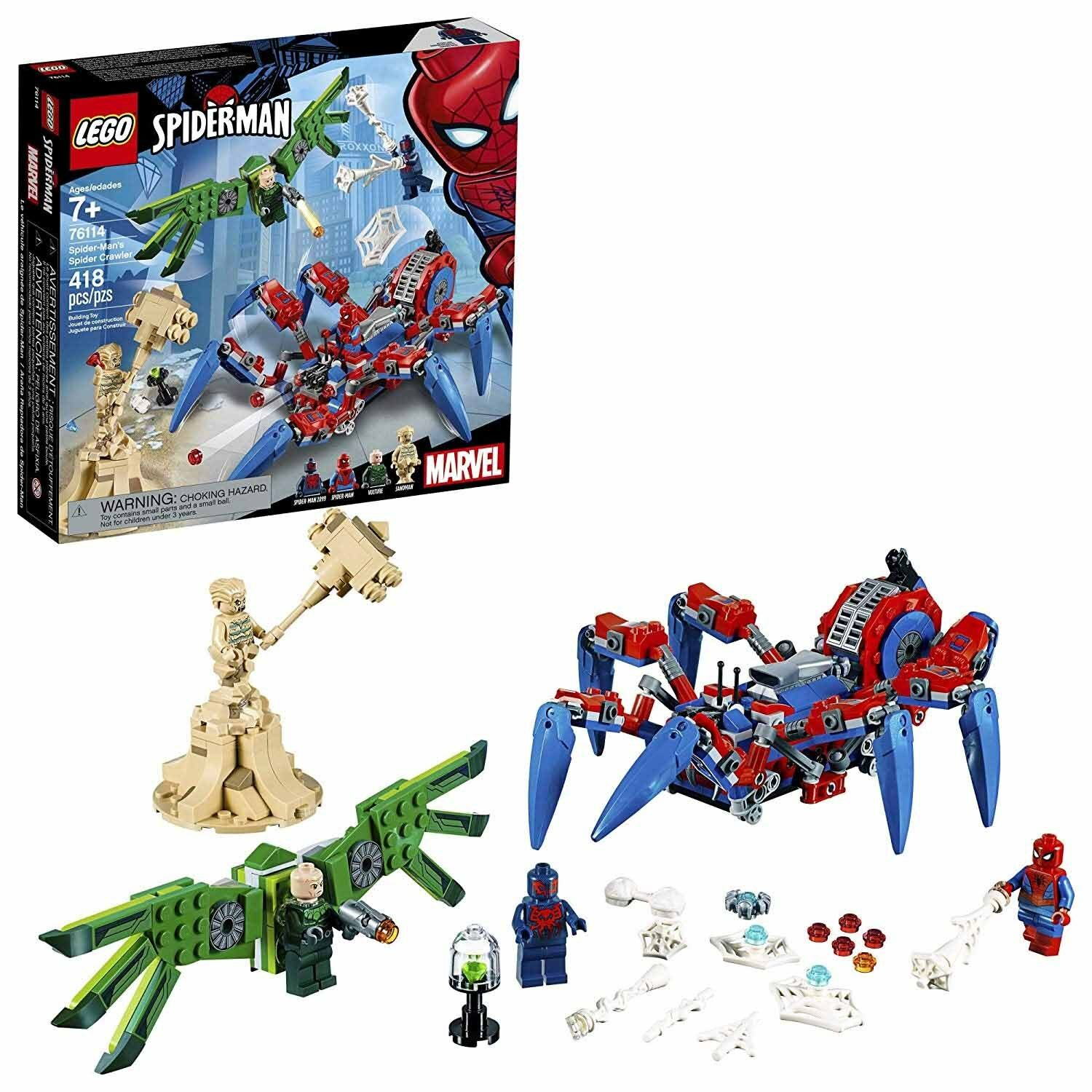 LEGO Marvel: Spider-Man's Spider Crawler Building Kit  76114, 418 Pieces