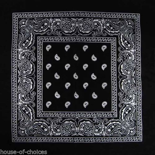 Unisex Paisley Design Cotton Bandana Headscarf Headtie Dog Scarf Various Colours