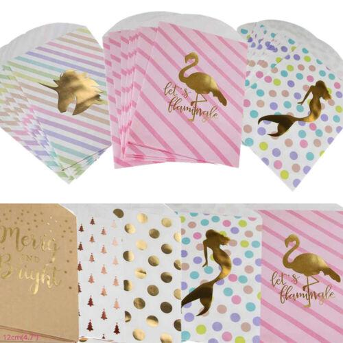 10X Kraft Paper Bag Popcorn Bag Candy Box Flamingo Paper Bags Wedding Decoration