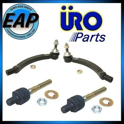 For Volvo C70 S70 V70 2.3L 2.4L 5cyl Pair LFT RT Inner Outer Tie Rod Ball Joint