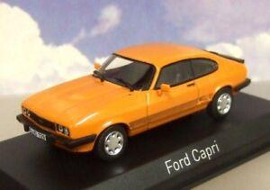 NOREV 1//43 DIECAST 1986 MK3 MKIII Ford Capri 3.0 S Orange LHD//ALLEMAGNE 270563