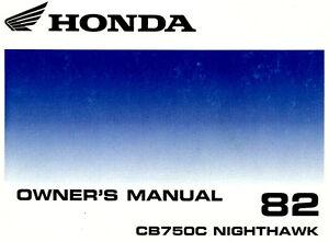 1982 honda cb750c nighthawk 750 custom motorcycle owners manual cb rh ebay ie nighthawk 750 owners manual netgear nighthawk owners manual
