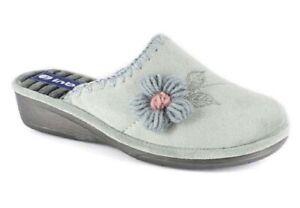 Dettagli su INBLU PANTOFOLE CIABATTE invernali da donna art. DC 15 GRIGIO slippers