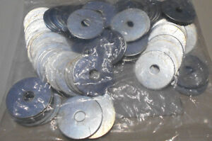 """Lot of 100   1/4"""" x 1 3/16"""" X .05"""" Fender Washers Steel Zinc Plated"""
