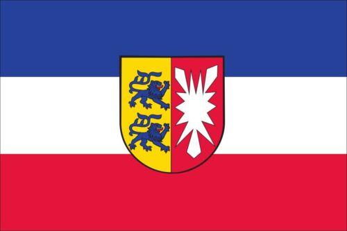 Flagge Schleswig-Holstein mit Wappen 110 g//m² ca 100 x 150 cm