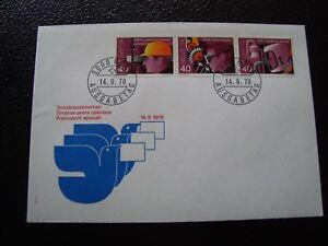 Switzerland-Envelope-1er-Day-14-9-1978-B13-Flag-Sticker-decal-Switzerland