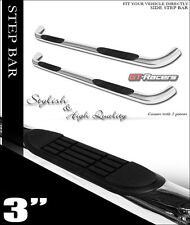 "FOR 1999-2013 CHEVY SILVERADO EXT CAB 3"" CHROME SIDE STEP BARS RUNNING BOARDS JL"