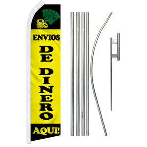 Nursery Swooper Flutter Feather Advertising Flag Pole Kit Gardening Plants