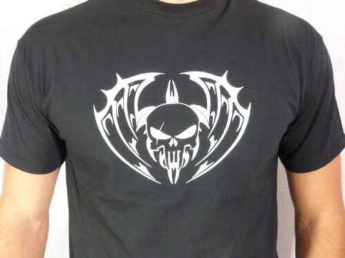 COOL T SHIRT Demon Skull HANDMADE Cool Unusual Clothes Unique Gifts