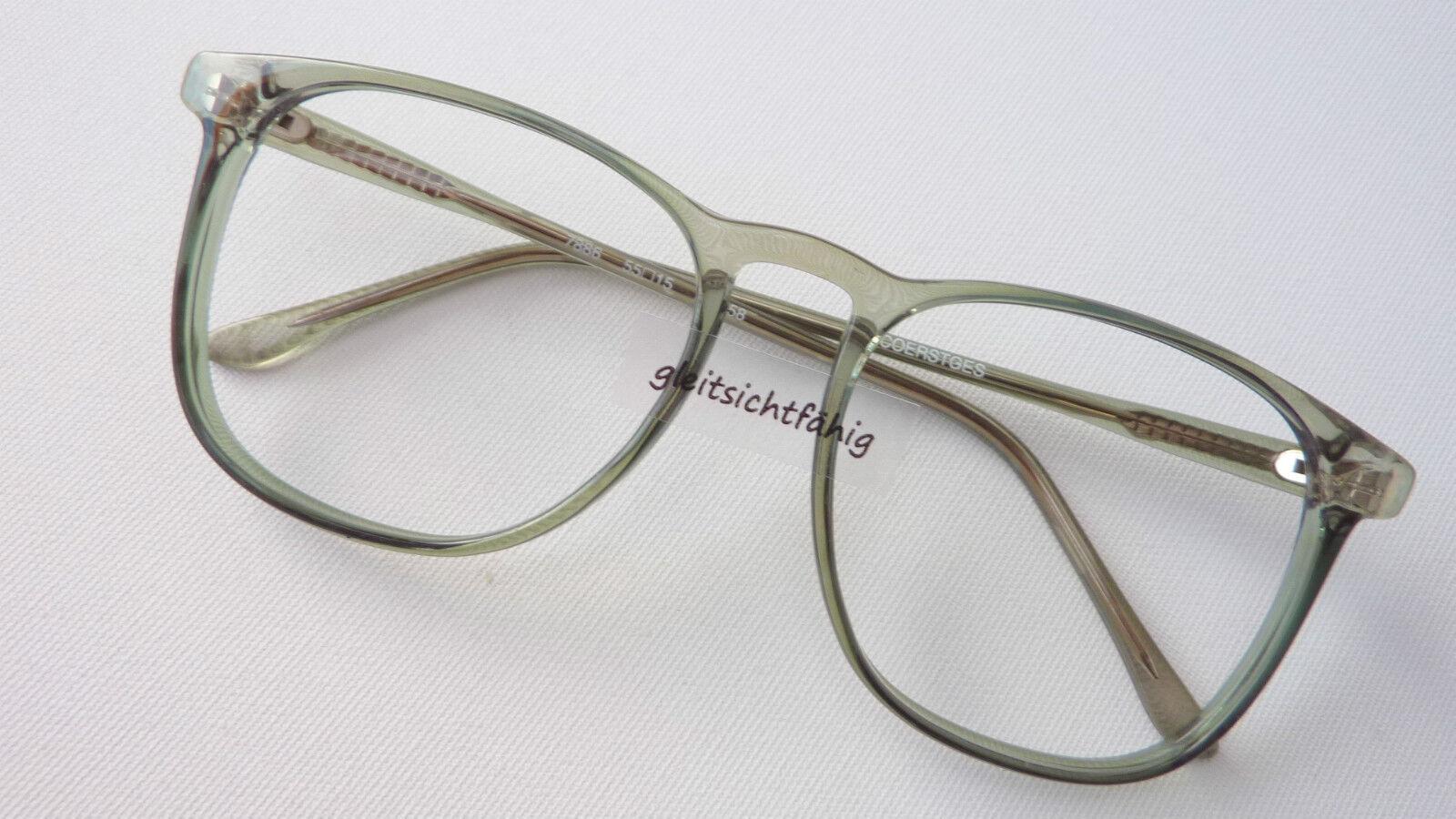 Brille extragroße extragroße extragroße Gläser Pantobrille Brillenfassung Boho Vintage grün Grösse L   | Exquisite Verarbeitung  93afe0