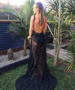 5bdf7ff1111 Image is loading Alamour-The-Label-Cristal-Gown-Black-Size-XS-