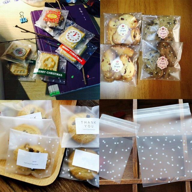 Party Supplies Wedding Favors Candy Bag Self-Adhesive Cookie Package Thank You